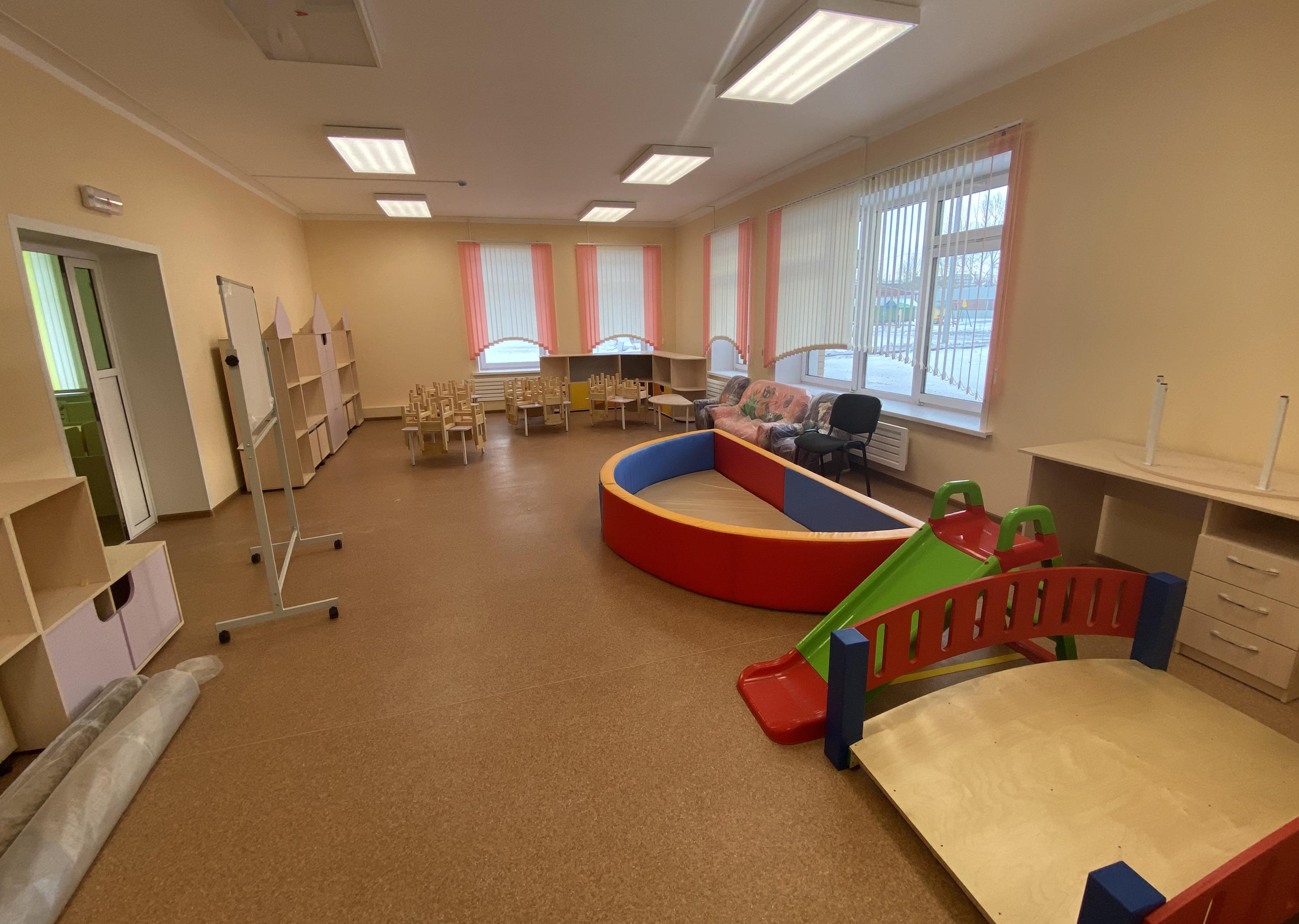 Сейчас детские сады укомплектовывают оборудованием