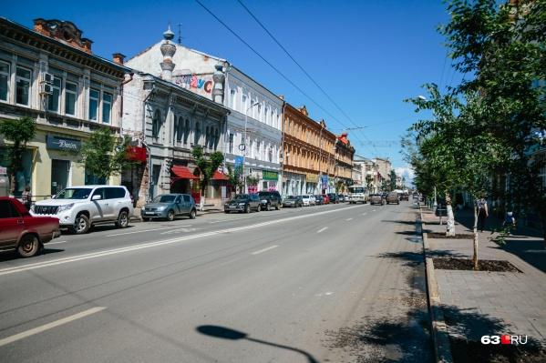 На улице Куйбышева практически каждый дом можно считать культурным наследием самарцев