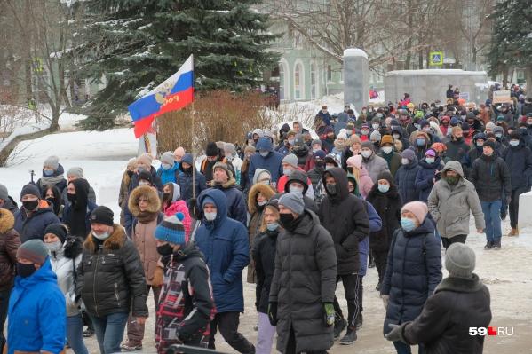 31 января, по официальным данным, на несанкционированную акцию протеста собрались 600 человек