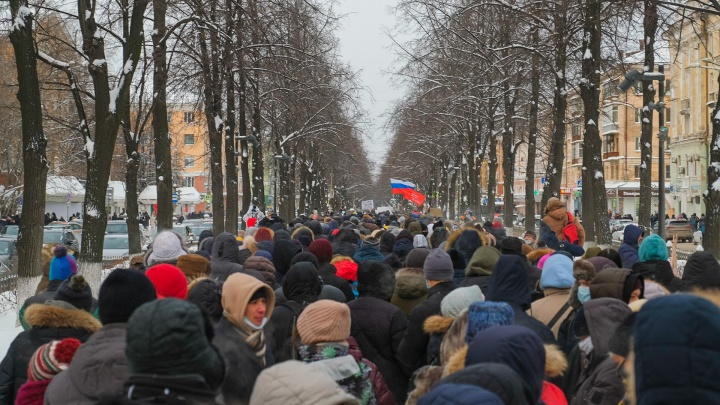 В Перми проходит шествие в поддержку Алексея Навального. Прямой эфир