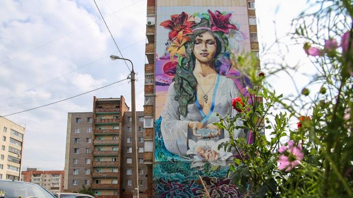 Мадонна с младенцем, Мэрилин Монро, Юрий Никулин и другие: ищем крутые граффити в Уфе