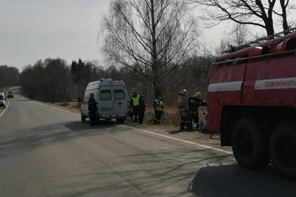 Авария случилась в Рыбинском районе