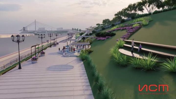 Без деревьев, но с кустарниками: показываем, как будет выглядеть новый участок тюменской набережной