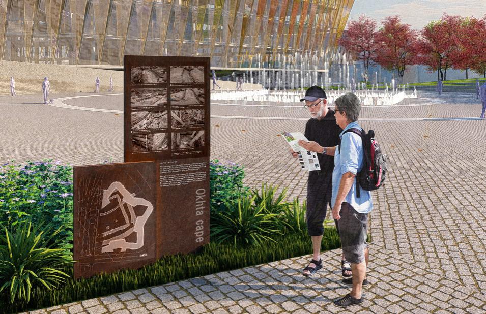 Информационные табло с рассказом об археологии места