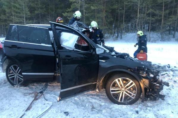 Подушки безопасности не спасли пассажиров Volkswagen