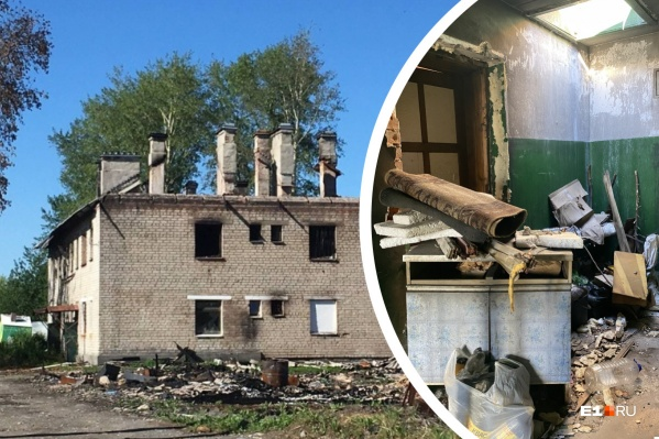 Алла Колтышева продолжает жить в сгоревшем доме