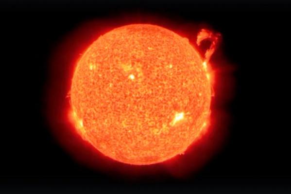Как видите, мощный выброс плазмы произошел с правой стороны солнечного диска