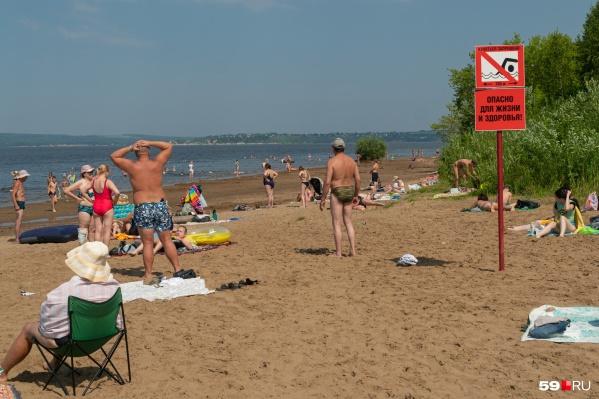 На пляже КамГЭС купаться запрещено