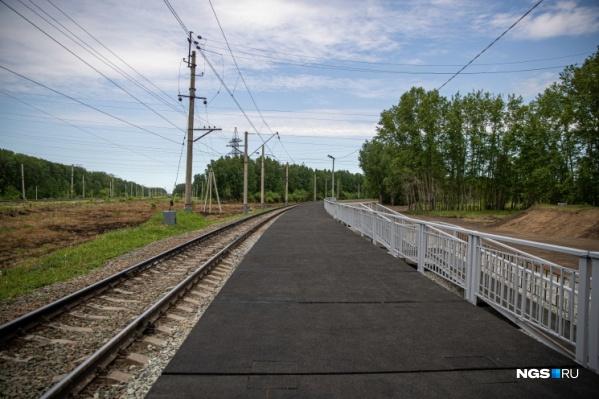 Платформу возле Пригородного простора строит Западно-Сибирская железная дорога