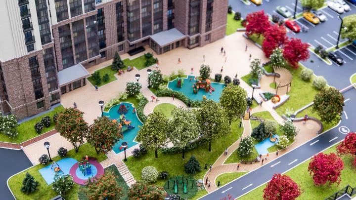 Проект двора впечатляет: рядом с метро «Заельцовская» распродают квартиры — сдача дома уже в этом году