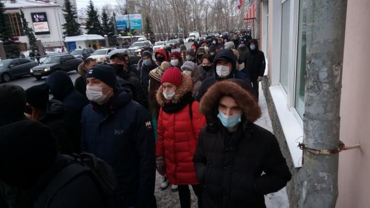 Акция в поддержку Навального в Архангельске превратилась в шествие