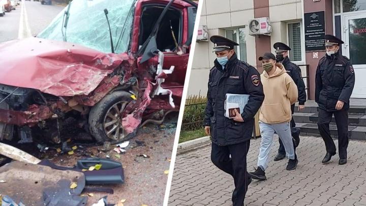 «Шашечник», сбежавший после аварии с четырьмя пострадавшими на Семафорной, получил 12 суток ареста