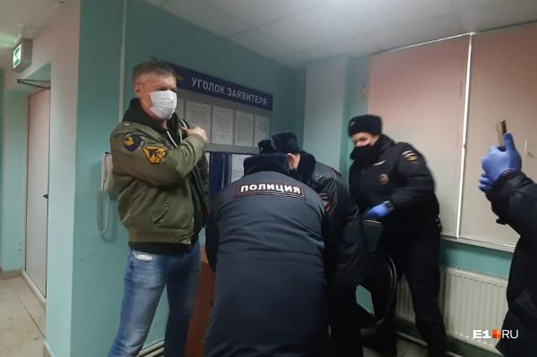 Евгений Ройзман в московском ОВД «Гольяново»