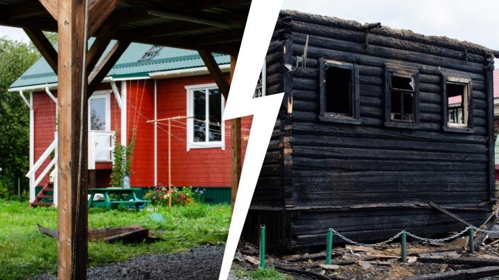 Строили новый дом, переехать не успели: кадры из Перхачево, где в пожаре погибла семья с детьми