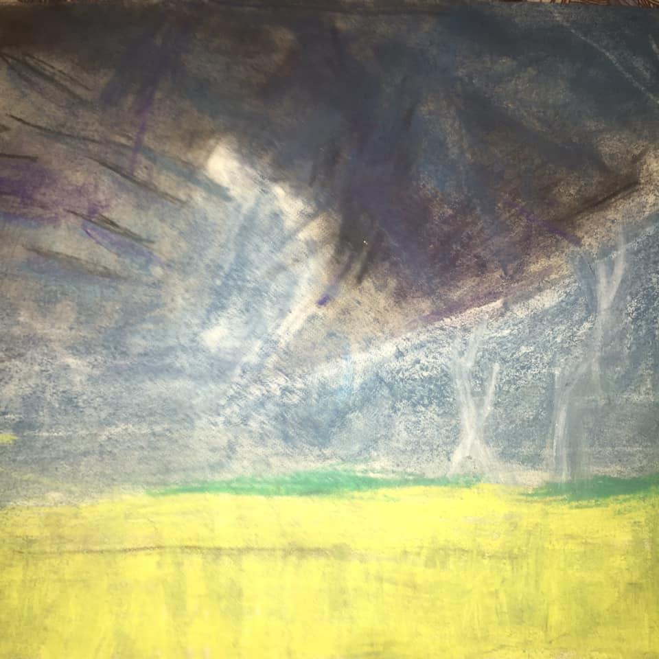 Эту картину Ярослав назвал коротко и просто: «Гроза»