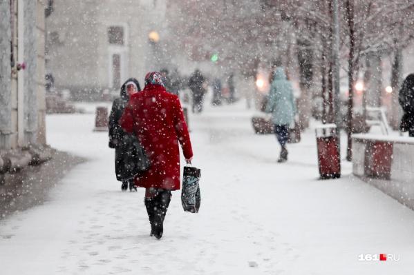 Снегопад будет идти по меньшей мере еще сутки