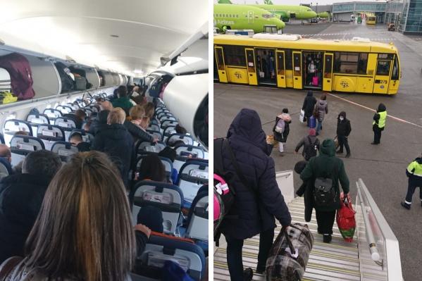 Пассажиров попросили покинуть самолет почти перед самым вылетом