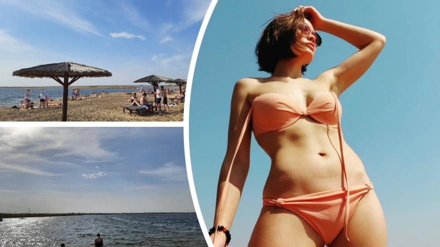 Тюменцы в невыносимую жару рванули на пляжи. Показываем обстановку и горячих девушек в купальниках