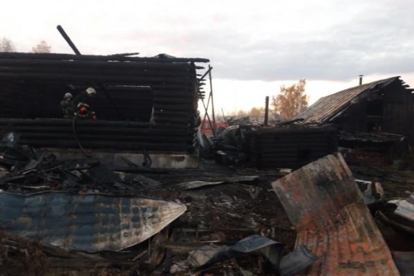 Площадь пожара была около 100 квадратных метров