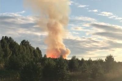 В Кишертском районе взорвался газопровод, начался пожар