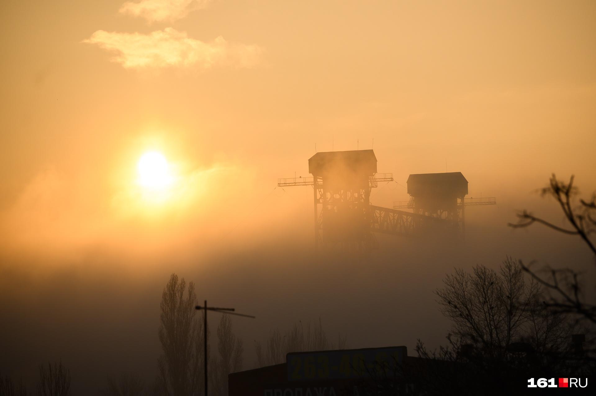 Туман в последнее время часто «наведывается» в Ростов