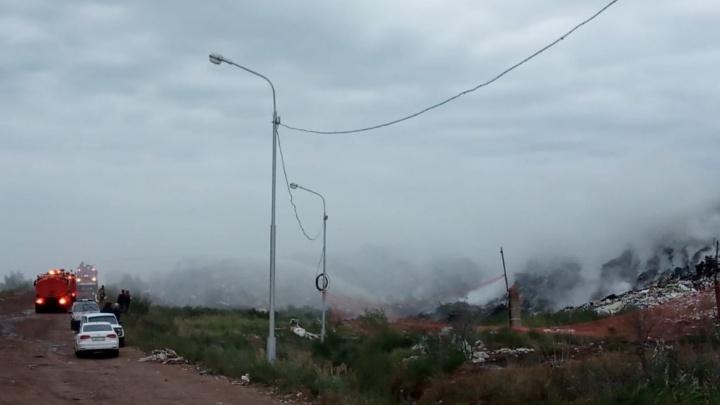 «Спецавтохозяйство»: мусорный полигон под Уфой мог загореться из-за поджога