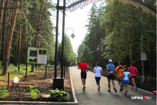 Посетители парка жалуются, что фонари работают не в полную мощь