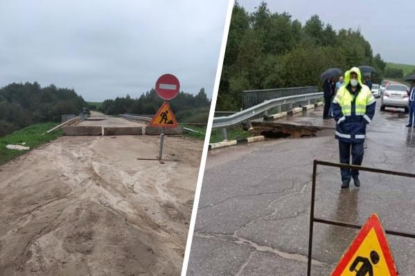 Жители пожаловались, что с просевшим мостом на реке Лахость ничего не делают