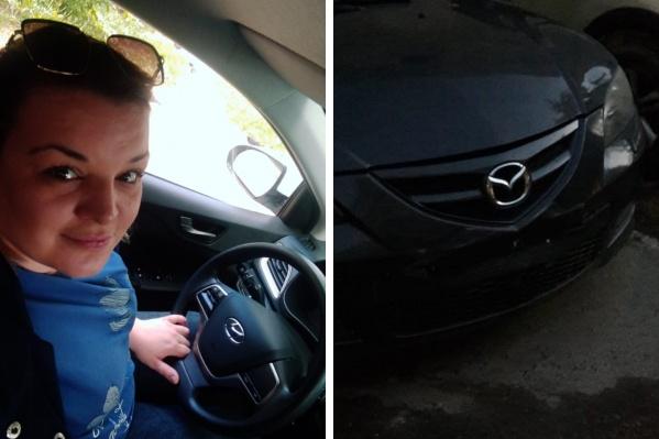 Юлия попала в аварию на каршеринговой машине: она задела госномер припаркованной Mazda