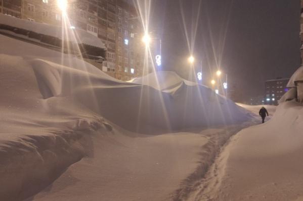 В этом январе в Норильске выпало в два раза больше снега, чем в прошлом