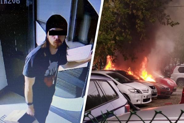 Прежде чем спалить авто, парень провел в нем всю ночь