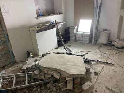 В Самаре рабочего убило куском отвалившейся стены