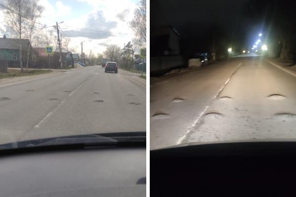 Вот такую полосу препятствий приходится преодолевать водителям на улице Гудованцева