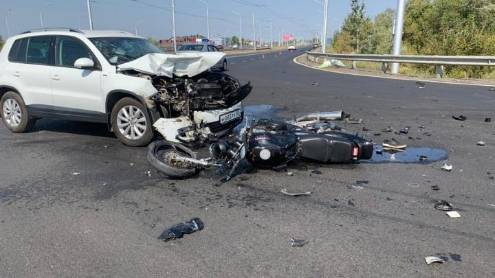 Электрик без прав: стала известна личность погибшего мотоциклиста, который влетел в иномарку в Уфе