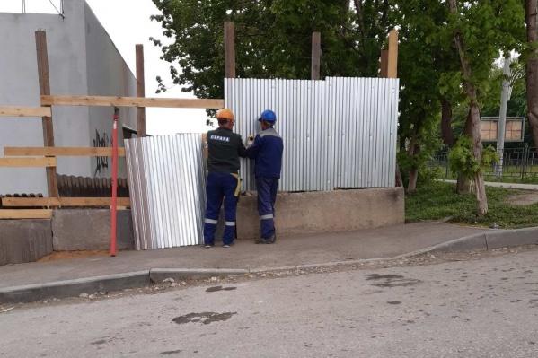 Горожанам пока удалось остановить строительные работы