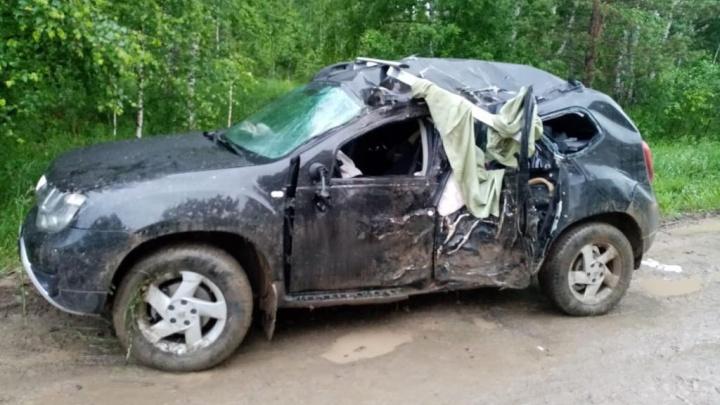 Под Новосибирском «Рено» съехал с дороги и врезался в дерево — погибла женщина