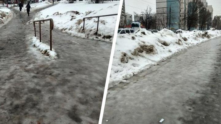 Ледовые «забавы»: как самарцы ломают кости на скользких тротуарах