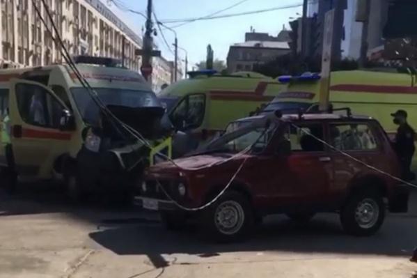 В аварии пострадал водитель «Нивы»
