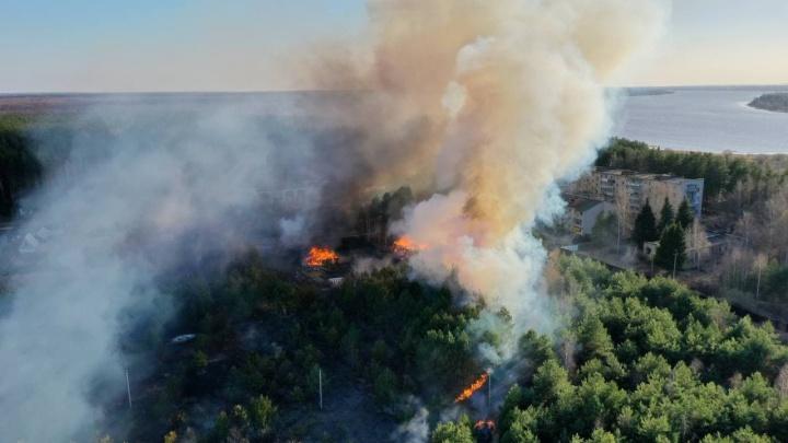 Огонь перекинулся на дома: Ярославская область опять полыхает
