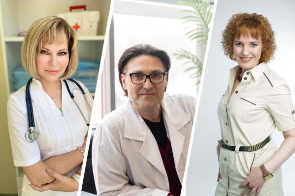 Слева направо: кардиолог Светлана Кольцова, дерматовенеролог Алексей Хрянин и терапевт Наталья Заякина