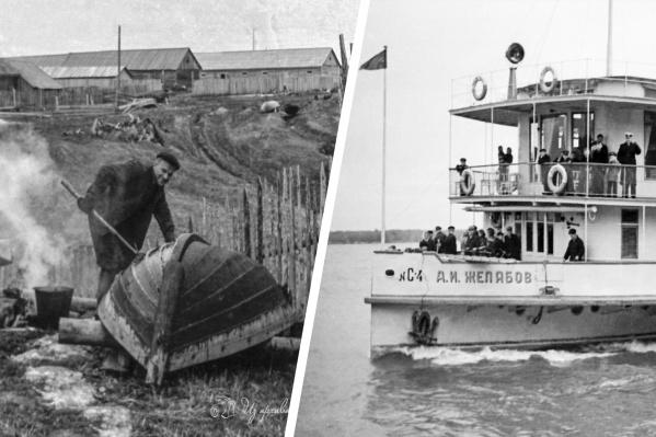 Фотоснимки из прошлого Верхнетоемского района — когда смолили лодки, а по Северной Двине ходил колесный пароход«А. И. Желябов»