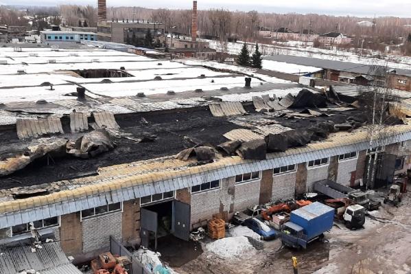 Сгоревшая крыша
