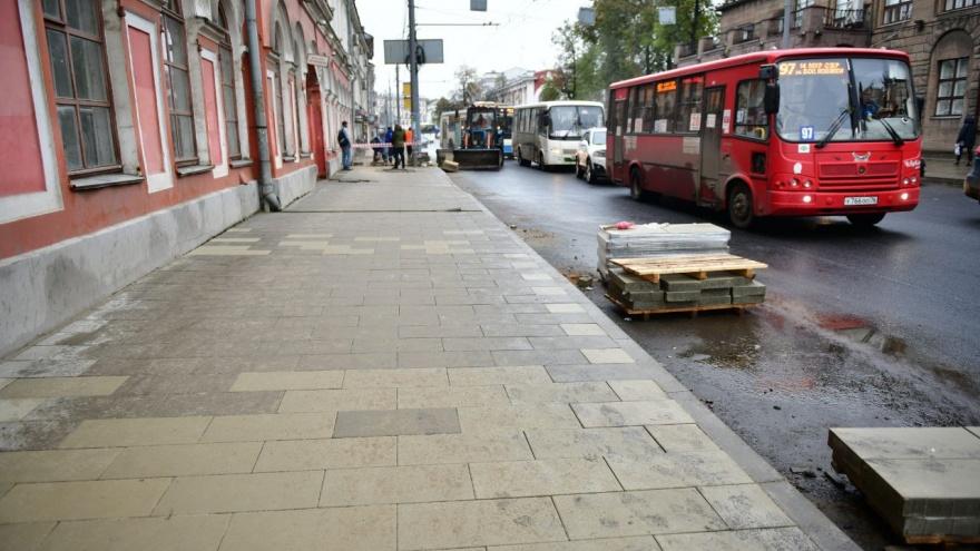 Подождем еще... В Ярославле подрядчик снова не смог доделать ремонт Комсомольской вовремя