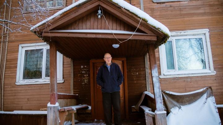 Буря вокруг Ленина и деревянное гетто даже в центре: гуляем по морозной Бакарице в Архангельске