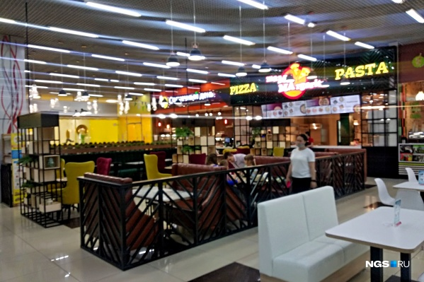 Пиццерия открылась на втором этаже торгового центра «Континент»