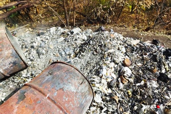 Отходы просто сжигались в бочках