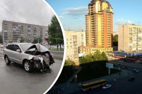 Авария произошла на перекрестке Кропоткина и Красного проспекта