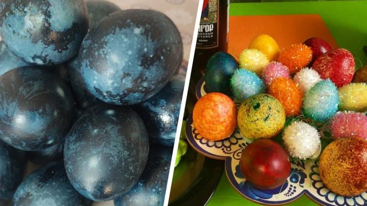Космические и пушистые: ярославцы показали, как необычно покрасили яйца кПасхе