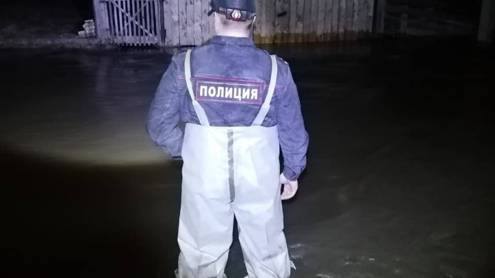 В Козульском районе река вышла из берегов и подтопила участки. На место выехали полиция и МЧС