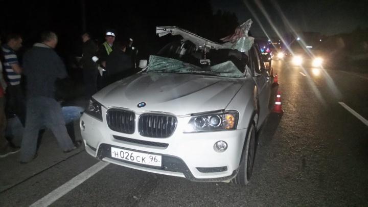 Под Екатеринбургом Opel сбил лося, животное вылетело на встречку и упало на BMW. Водитель погиб